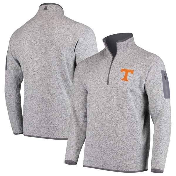アンティグア メンズ ジャケット&ブルゾン アウター Tennessee Volunteers Antigua Fortune 1/2-Zip Pullover Sweater Heathered Gray