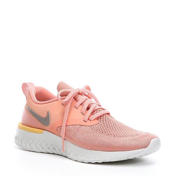 ナイキ レディース スニーカー シューズ Women's Odyssey React 2 Flyknit Running Shoe Pink Quart/Platinum Tint/Pumice