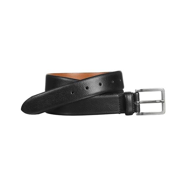 ジョンストンアンドマーフィー メンズ ベルト アクセサリー Men's Feather Edge Dress Belt Black