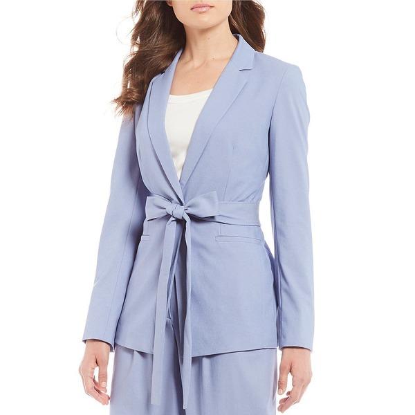 アントニオメラニー レディース ジャケット&ブルゾン アウター Taylor Tie Waist Chambray Suiting Jacket Blue Granite