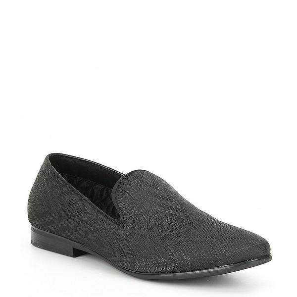 スティーブ マデン メンズ ドレスシューズ Loafer シューズ Men's Chevron スティーブ Fabric ドレスシューズ Loafer Black, キタミシ:f27d1942 --- wap.assoalhopelvico.com