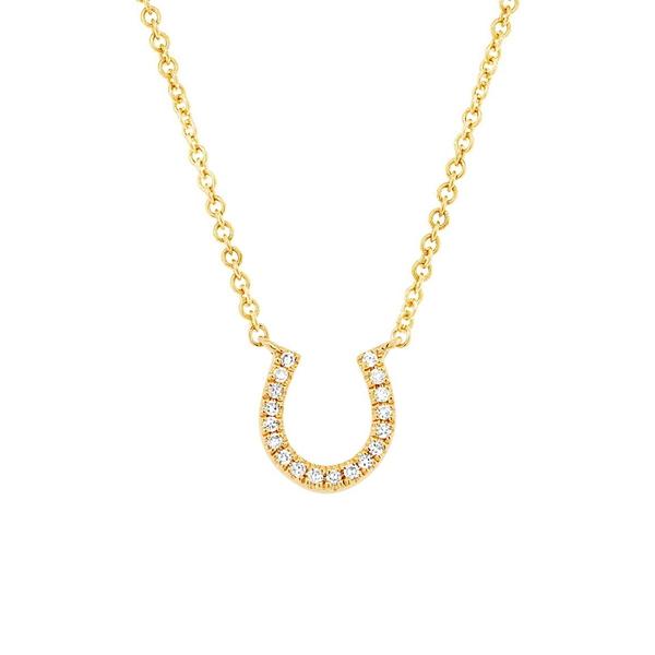 超格安価格 ロンハミ レディース ネックレス・チョーカー・ペンダントトップ アクセサリー 14K Yellow Gold Diamond Horseshoe Pendant Necklace - 0.06 ctw YELLOW GOLD/DIAMOND, 印章製造直販本舗 こだわり屋 33b726ef