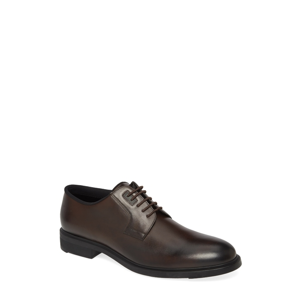 ボス メンズ 限定価格セール シューズ ドレスシューズ DARK BRN 全商品無料サイズ交換 Derby Class Leather Plain Toe First <セール&特集>