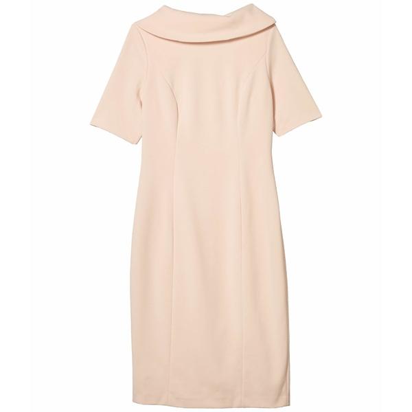アドリアナ パペル レディース トップス ワンピース 人気ショップが最安値挑戦 Blush 全商品無料サイズ交換 推奨 w Dress Neck Sheath Collar Roll V-Back
