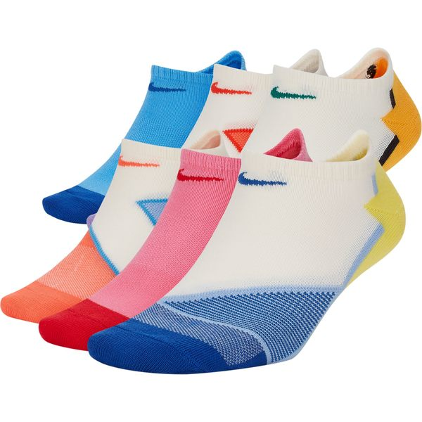 ナイキ レディース 靴下 アンダーウェア Nike Women's Everyday Cushion No-Show Training Socks 6-Pack Multi