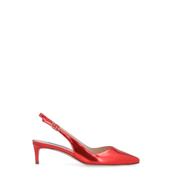 スチュアート ワイツマン レディース ヒール シューズ Stuart Weitzman Edith Mirror Look Leather Sling-back red