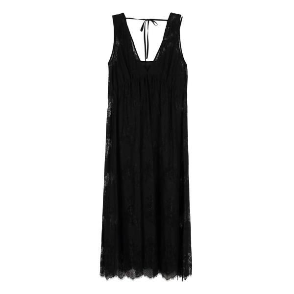 ユッカ レディース ワンピース トップス ユッカ Midi Jucca Lace レディース Midi Dress black, 新到着:92fc8d5a --- officewill.xsrv.jp