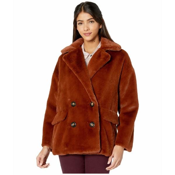 フリーピープル レディース コート アウター Solid Kate Faux Fur Coat Terracotta