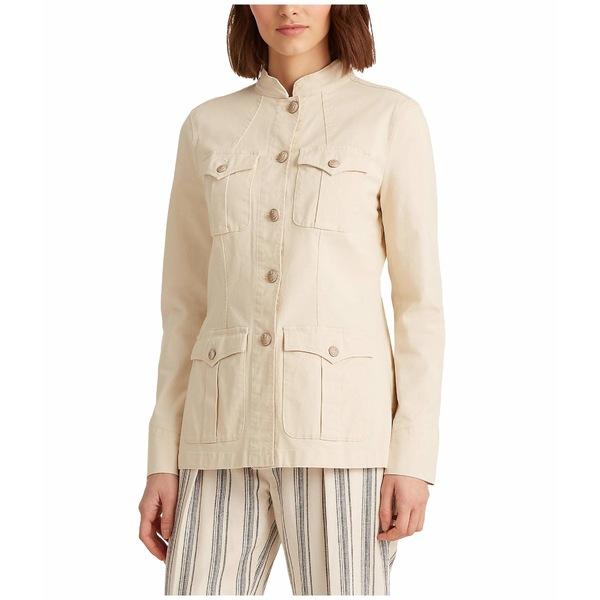 ラルフローレン レディース コート アウター Stretch-Cotton Canvas Jacket Raw Cotton