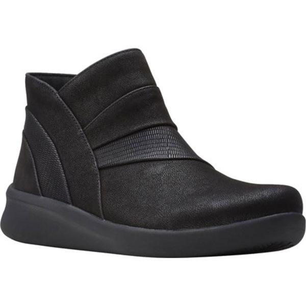 クラークス レディース ブーツ&レインブーツ シューズ Sillian 2.0 Rise Ankle Bootie Black Synthetic