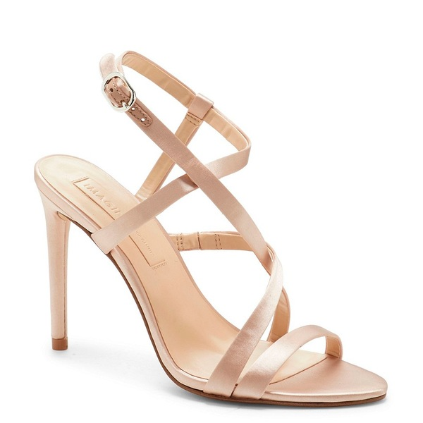 ヴィンスカムート レディース サンダル シューズ Imagine by Vince Camuto Ramsey Satin Dress Sandals Bisque Satin