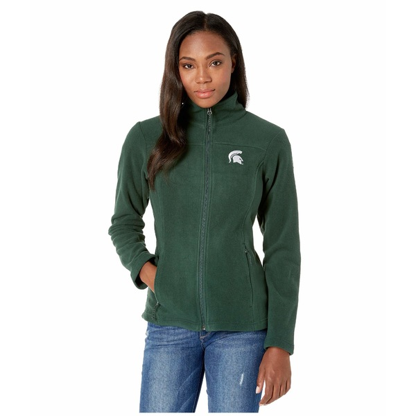 コロンビアカレッジ レディース コート アウター Michigan State Spartans CLG Give and Go II Full Zip Fleece Jacket Spruce