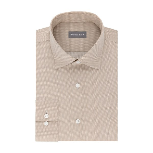 マイケルコース メンズ シャツ トップス Regular-Fit Airsoft Stretch Non-Iron Performance Dress Shirt Almond
