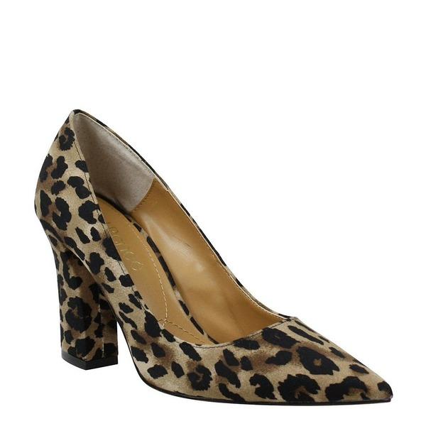 ジェイレニー レディース パンプス シューズ Quorra Leopard Print Block Heel Pumps Brown/Black Animal Print