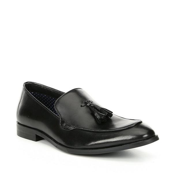 スティーブ マデン Leather メンズ ドレスシューズ Tassel シューズ Men's Emeree Leather Tassel Emeree Slip-Ons Black, 京都パン屋GREEN:a1b7b31e --- wap.assoalhopelvico.com