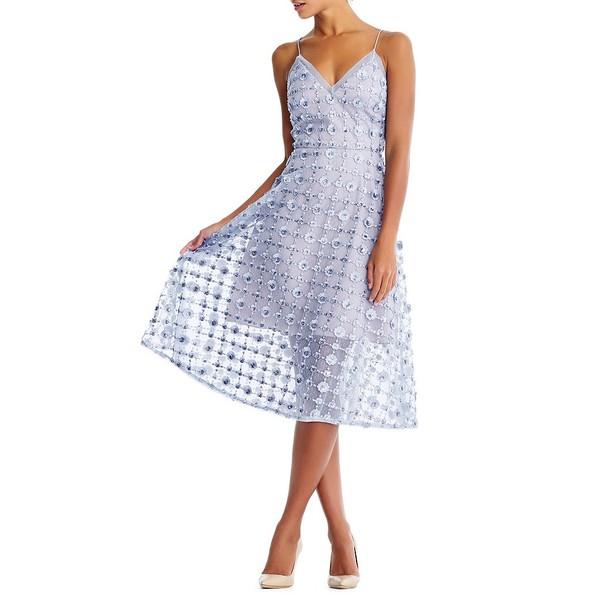 アイダンマットックス Perry レディース ワンピース Dress トップス Floral Embellished V-Neck A-Line レディース Midi Dress Ice Perry, 対馬水産 西のとろあなご:7ef0c365 --- officewill.xsrv.jp