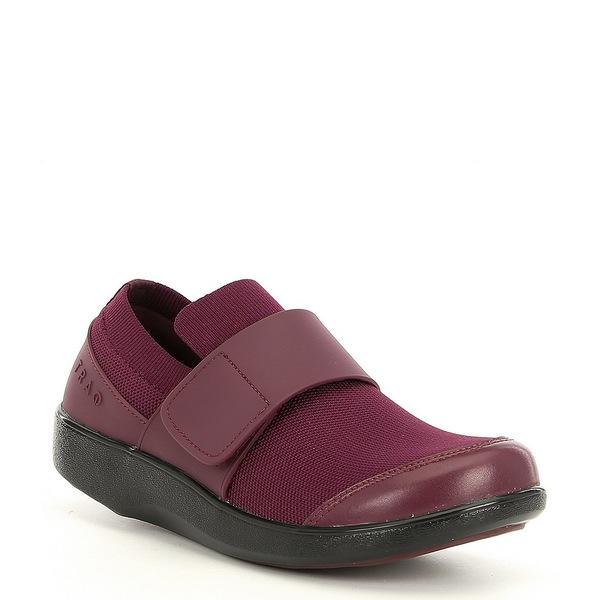 アレグリア レディース スニーカー シューズ TRAQ Qwik Smart Knit Monk Strap Shoes Plum