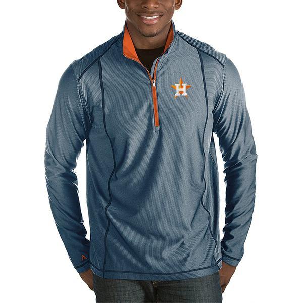 アンティグア メンズ ニット&セーター アウター MLB Tempo Half-Zip Pullover Houston Astros Navy/Orange