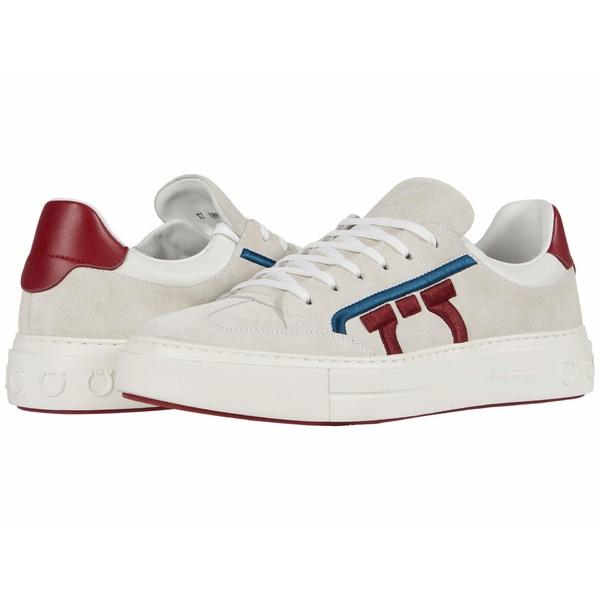 サルヴァトーレ フェラガモ メンズ スニーカー シューズ Borg 12 Sneaker Pearl/Red/White