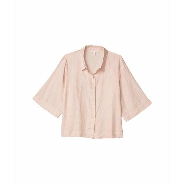 エイリーンフィッシャー レディース シャツ トップス Plus Size Classic Collar Shirt Powder
