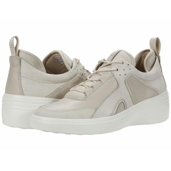 エコー レディース スニーカー シューズ Soft 7 Wedge City Sneaker Gravel/Gravel Yak Nubuck/Cow Leather