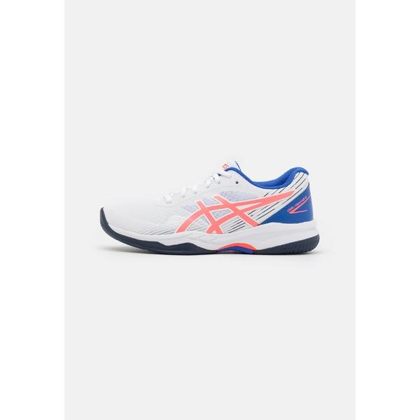 アシックス 品質検査済 レディース スポーツ テニス white blazing coral 8 shoes GEL-GAME 全商品無料サイズ交換 セットアップ tennis Multicourt -