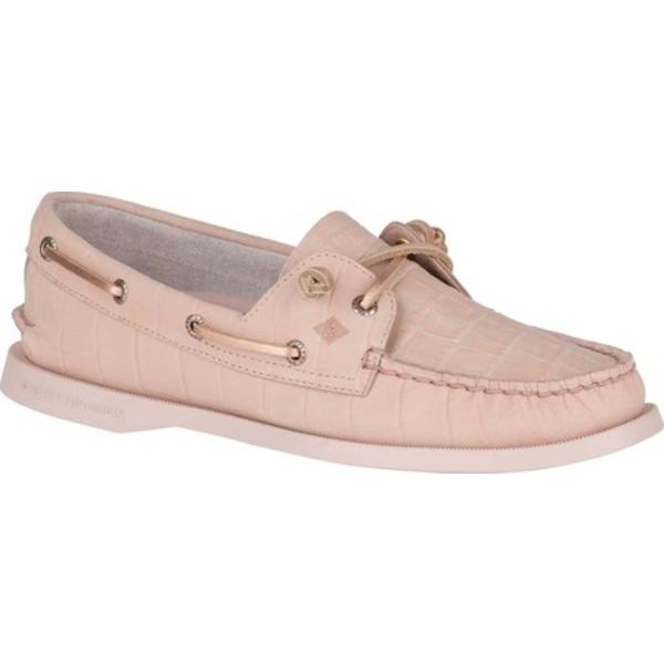 トップサイダー レディース サンダル シューズ A/O Vida Boat Shoe Pink Croc Nubuck