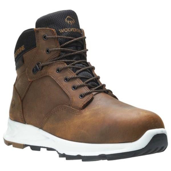 ウルヴァリン メンズ ブーツ&レインブーツ シューズ ShiftPLUS LX Alloy Toe Work Boot Brown Full Grain Leather