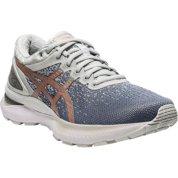 アシックス レディース スニーカー シューズ GEL-Nimbus 22 Knit Running Sneaker Sheet Rock/Rose Gold