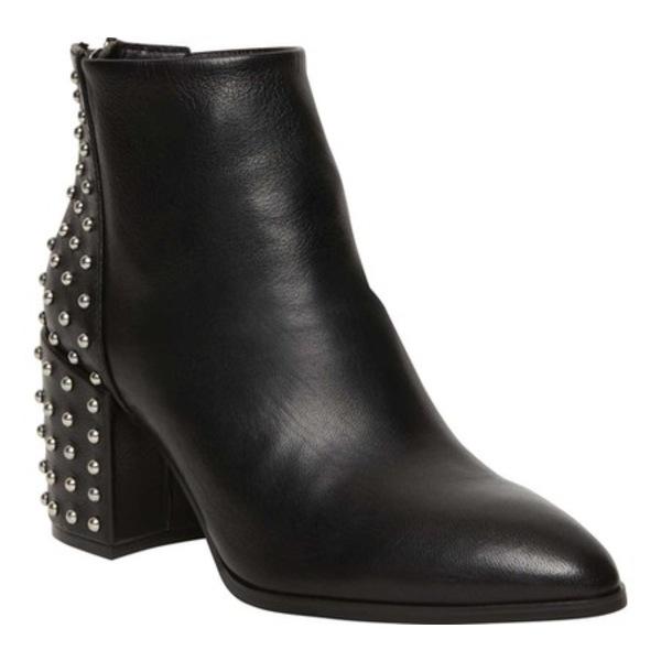スティーブ マデン レディース ブーツ&レインブーツ シューズ Jillian-S Studded Ankle Boot Black Leather