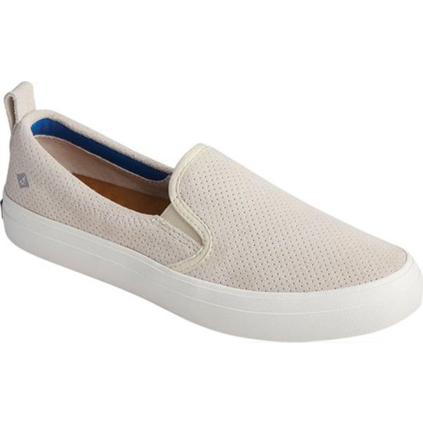 トップサイダー レディース スリッポン・ローファー シューズ Crest Twin Gore Plushwave Perf Slip-On Sneaker Moonbeam Leather