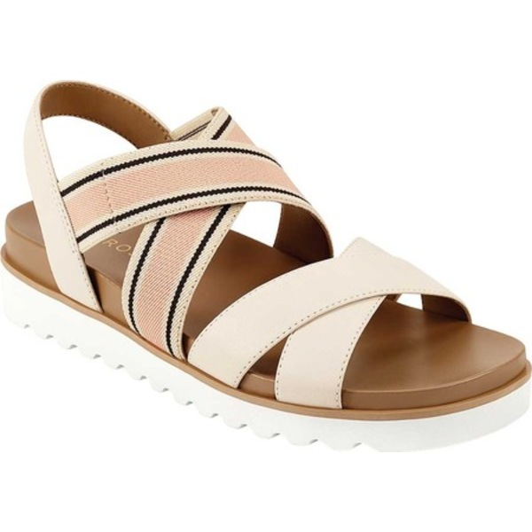 エアロソールズ レディース サンダル シューズ Kings Park Platform Strappy Sandal Luna Cream/Black/Pink Crust Leather/Elastic
