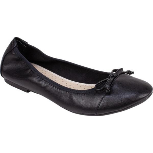 リアルト レディース サンダル シューズ Sunnyside II Ballet Flat Black Nappa Polyurethane