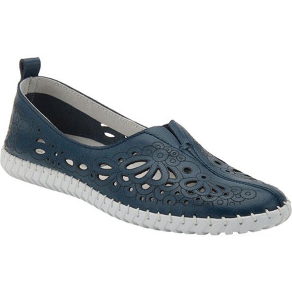 スプリングステップ レディース サンダル シューズ Mirtha Flat Blue Leather