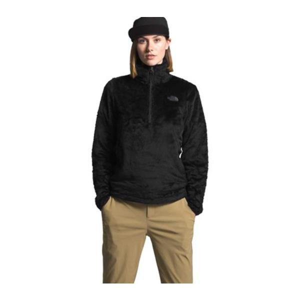 ノースフェイス レディース パーカー・スウェットシャツ アウター Osito Hybrid 1/4 Zip Pullover TNF Black