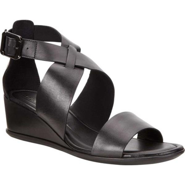 エコー レディース サンダル シューズ Shape 35 Wedge Sandal Black Leather