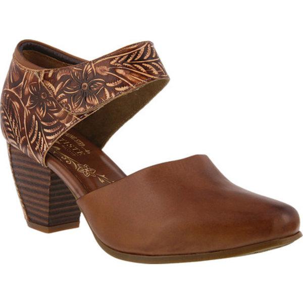 スプリングステップ レディース サンダル シューズ Toolie Heeled Mary Jane Brown Leather