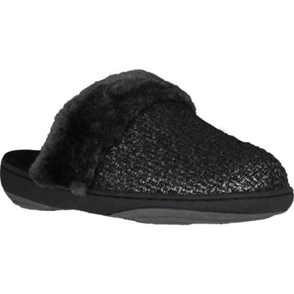 テンピュールペディック レディース サンダル シューズ Kensley Clog Slipper Black/Pewter Fabric