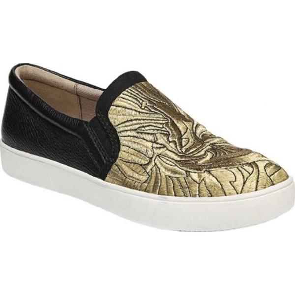 ナチュライザー レディース スニーカー シューズ Marianne Slip-on Sneaker Black/Gold Embroidered Fabric