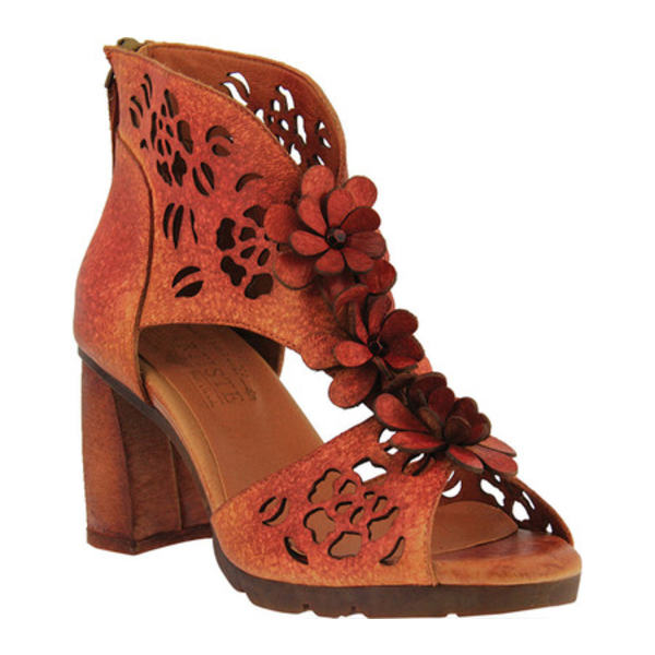 スプリングステップ レディース サンダル シューズ Marieloves T Strap Sandal Red Multi Leather