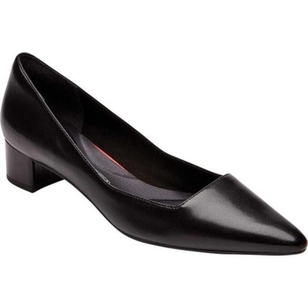 ロックポート レディース オックスフォード シューズ Total Motion Gracie Pointed Toe Pump Black Leather
