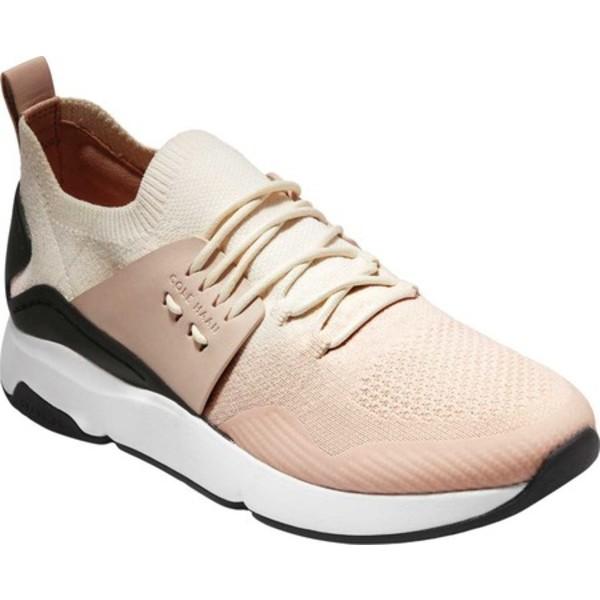 コールハーン レディース スニーカー シューズ ZEROGRAND Stitchlite All-Day Runner Sneaker Ivory/Peach Blush/Black Knit