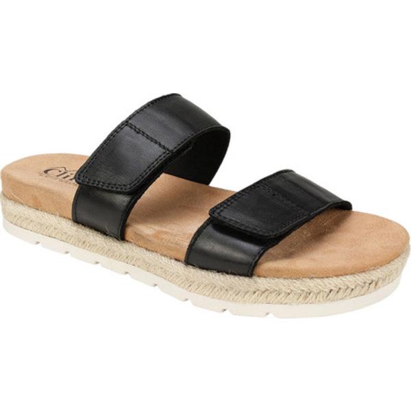 クリフバイホワイトマウンテン レディース サンダル シューズ Tionna Slide Sandal Black Calf Leather