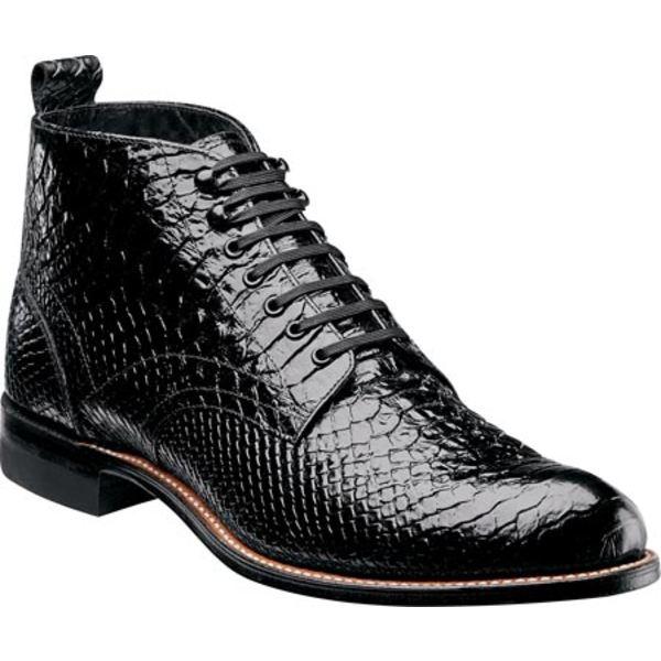 ステイシーアダムス メンズ ブーツ&レインブーツ シューズ Madison 00057 Black Leather