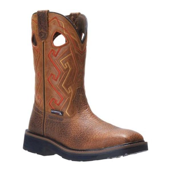 ウルヴァリン メンズ ブーツ&レインブーツ シューズ Rancher Aztec Steel Toe Cowboy Work Boot Tan Full Grain Leather