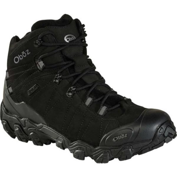 オボズ メンズ ブーツ&レインブーツ シューズ Bridger Mid BDry Hiking Boot Midnight Black Nubuck Leather