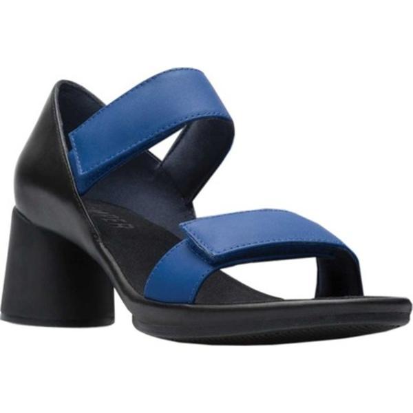 カンペール レディース サンダル シューズ Upright Two Strap Heeled Sandal Navy Full Grain Leather