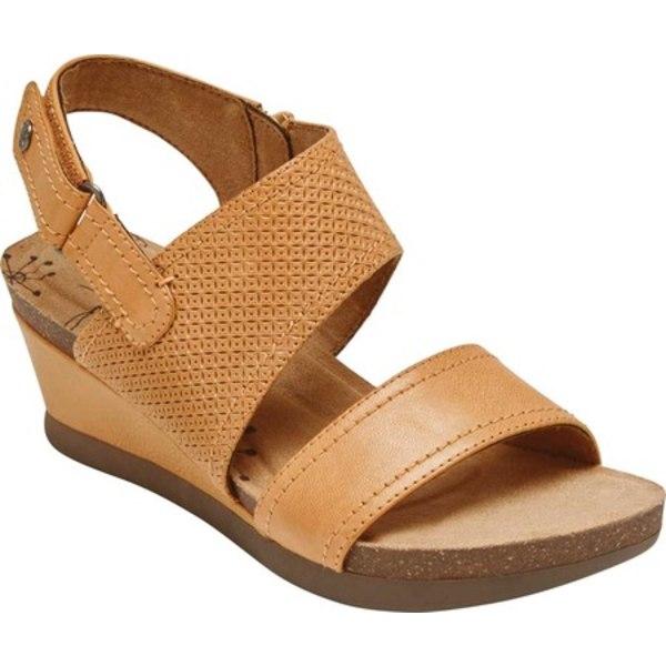 ロックポート レディース サンダル シューズ Cobb Hill Shona Wedge Sandal Yellow Mango Leather
