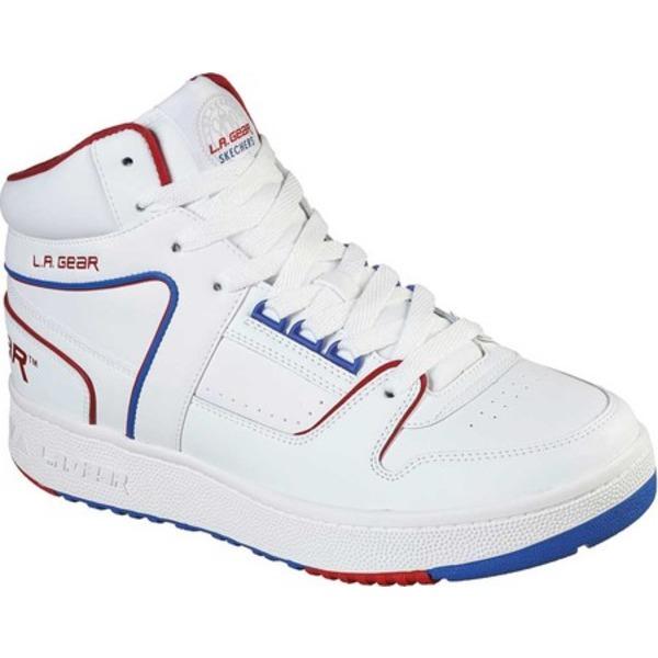 スケッチャーズ メンズ スニーカー シューズ L.A. Gear Slammer Sneaker White/Red/Navy