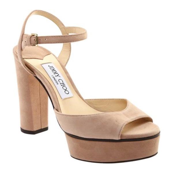 ジミーチュウ レディース サンダル シューズ Peachy 105 Platform Sandal Ballet Pink Suede